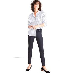Madewell High Rise Skinny Jeans Coated Edition